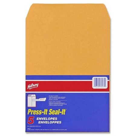 Enveloppe kraft Press-it Seal-it® 9 x 12 po (5)