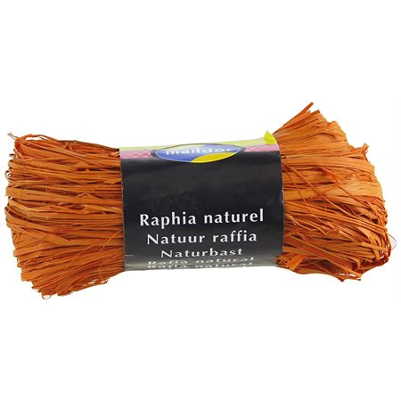 Raphia orange (sac de 50 g)