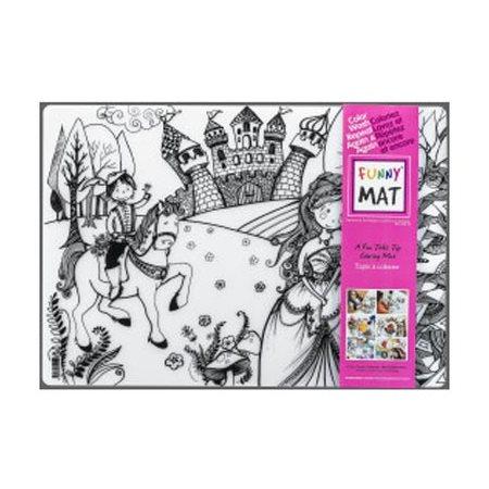 Coloriage Table Princesse.Buropro Tapis De Table Reutilisable A Colorier Princesse