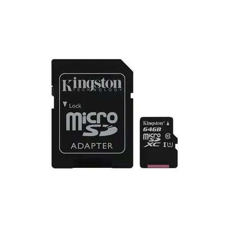 CARTE MÉMOIRE MICRO SDXC 64G - CLASSE 10 KINGSTON