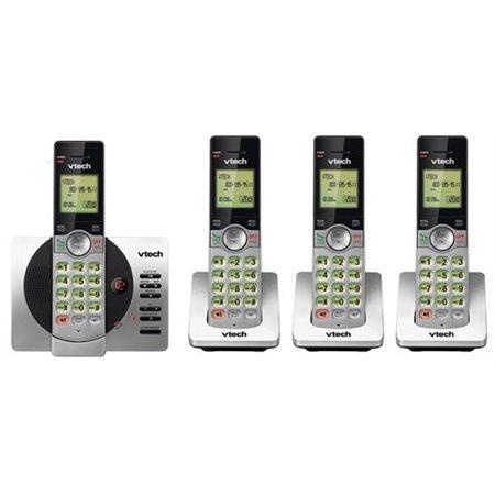 buropro t l phone sans fil 4 combin s avec r pondeur. Black Bedroom Furniture Sets. Home Design Ideas