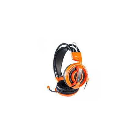 "Casque audio + micro ""E-Blue Cobra Pro"" orange"