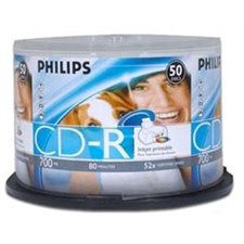 CD-R PHILIPS PQT.50 52X IMPRIMABLE