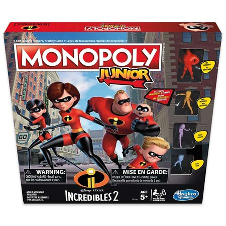 "Monopoly Junior - Version ""Les Indestructibles"""