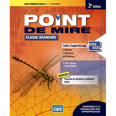 Point de mire Cahier d'apprentissage B, 2e Éd. (incluant fascicule de situations problèmes et les exercices interactifs), version papier + Accès étudiants, Web 1 an