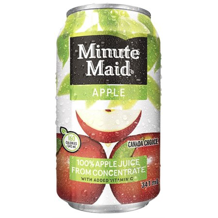 Jus Minute Maid pomme canette 355ml @12