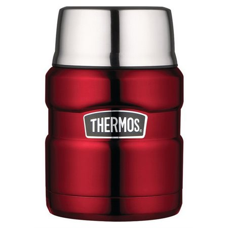 THERMOS 470 ML STAINLESS ROUGE