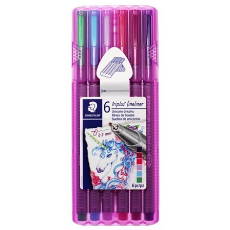 Marq. fineliner 0.3mm 6 couleurs ( licorne)