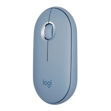 Souris Pebble de Logitech Bluetooth bleu gris