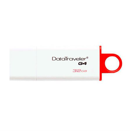 Clé USB DataTraveler Kingston G4 32 Go. rouge