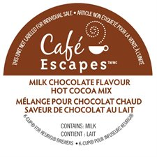 Breuvage chaud Chocolat chaud Café Escapes®