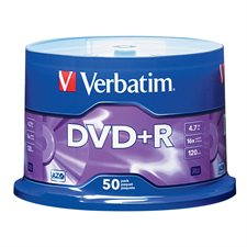 Disque inscriptible DVD+R 16x Paquet de 50