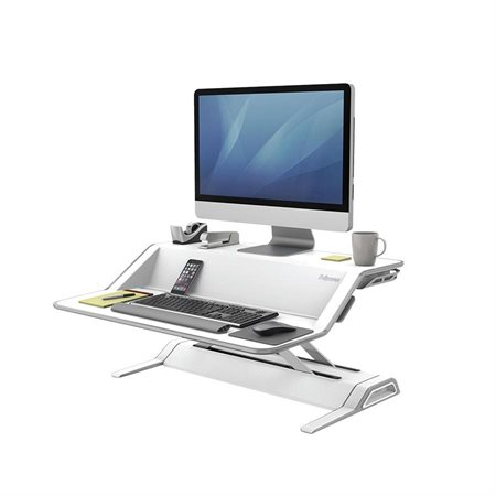 Station de travail convertible assis-debout Lotus™ blanc
