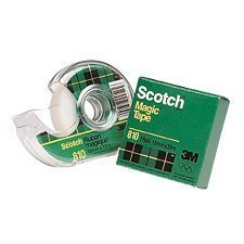Ruban adhésif Scotch® Magic™ Dévidoir 12 mm x 33 m