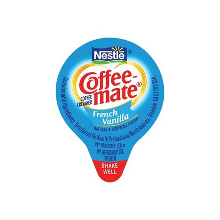 Colorant à café Coffee-Mate® Boîte de 180 portion de 11 ml. vanille française