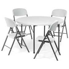 "Table ronde pliable Lite Lift II 48"" diamètre"