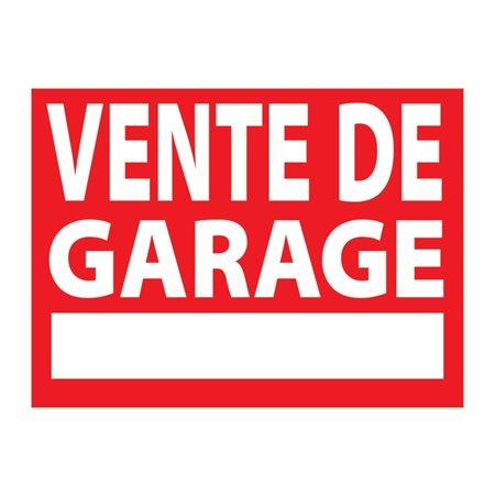 Buropro affiche en plastique vente de garage - Prix de vente d un garage ...